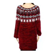 Style & Co. NEW Red White Womens Size 3X Plus Print Crew Neck Sweater