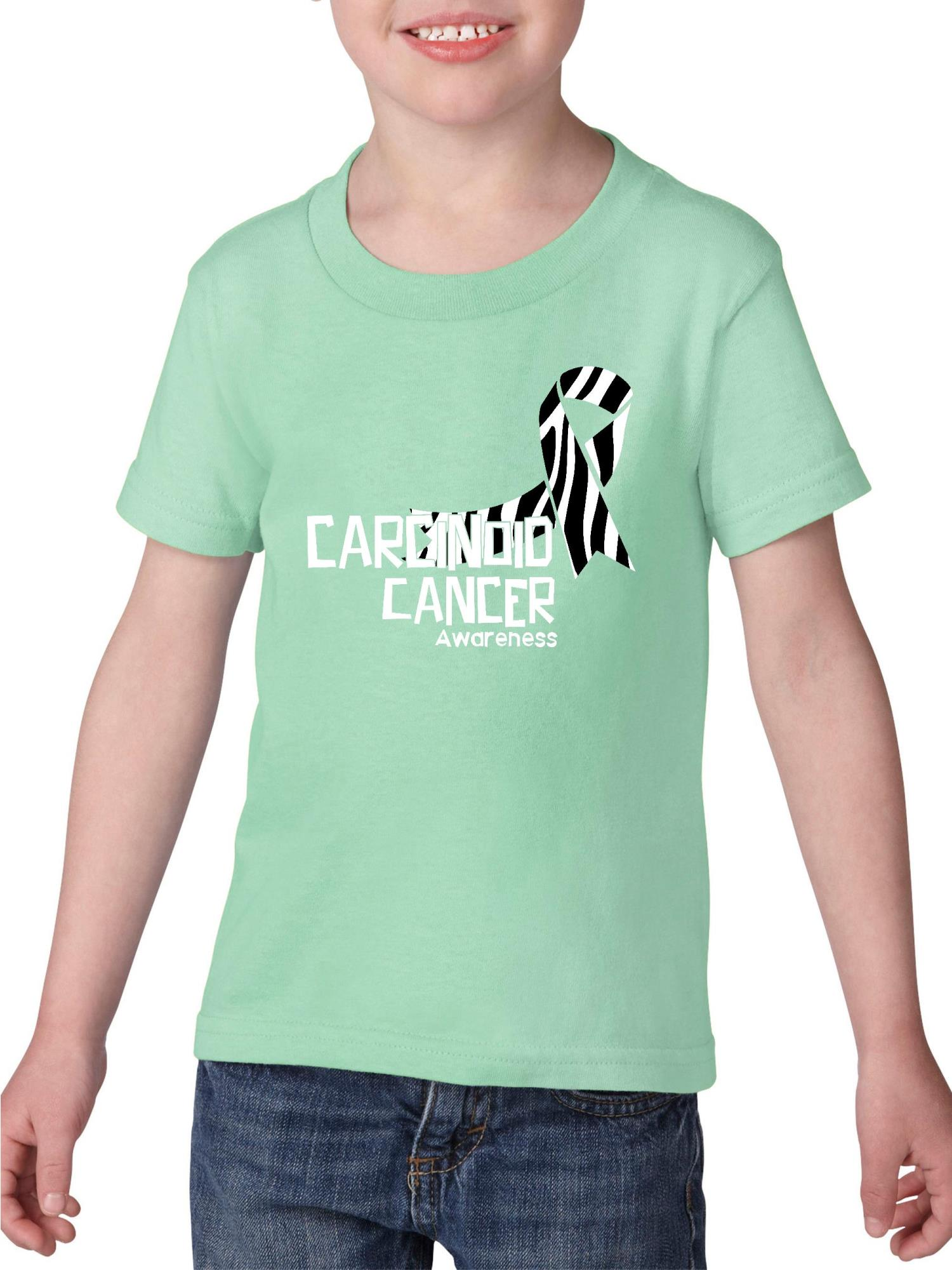 Carcinoid Cancer Awareness Heavy Cotton Toddler Kids T-Shirt Tee Clothing