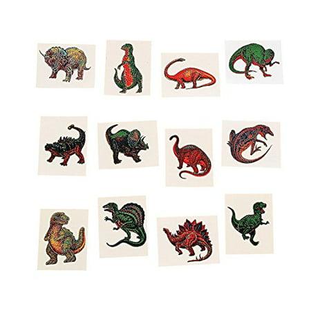Fun Express Dinosaur Temporary Tattoo Stickers - 72 Pieces - Dino Tattoo