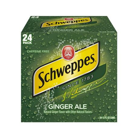 Schweppes Ginger Ale, 12 fl oz, 24 pack