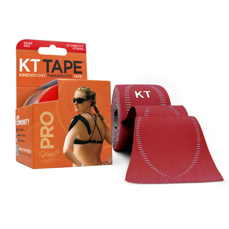 KT Tape Pro Kinesiology Tape, Rage Red, 20 ea