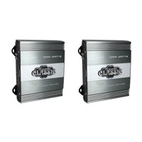 Pyramid 1000W 2 Channel Car Audio Amplifier Power Amp MOSFET 2 Ohm (2 Pack)