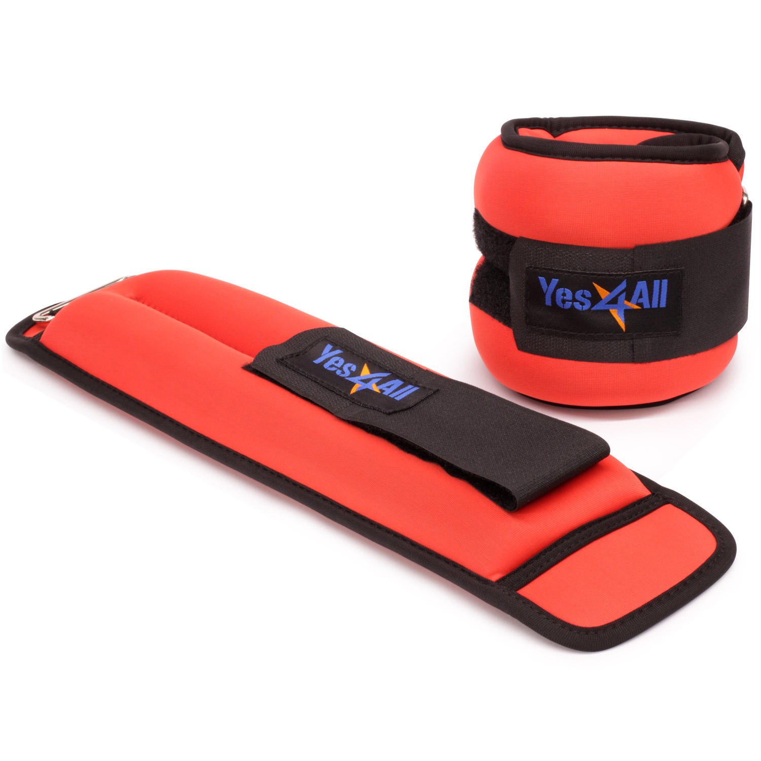 Yes4All Ankle / Wrist Weight Neoprene (Set of 2) - Comfort Fit with Adjustable Strap - Perfect for Walking, Fitness, Cardio Exercise
