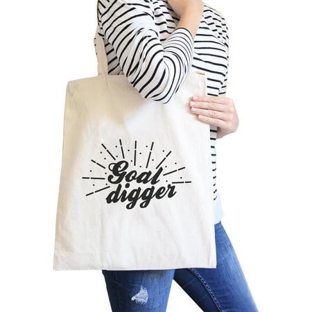 Goal Digger Natural Canvas Shoulder Bag For Fitness Humorous Gifts