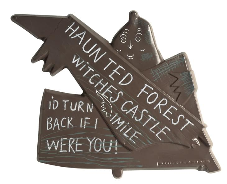 Haunted Forest Wizard of Oz Witches Castle Rustic Metal Sign