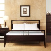 Nevis King-Size Platform Bed with Headboard, Footboard and Rails, Espresso