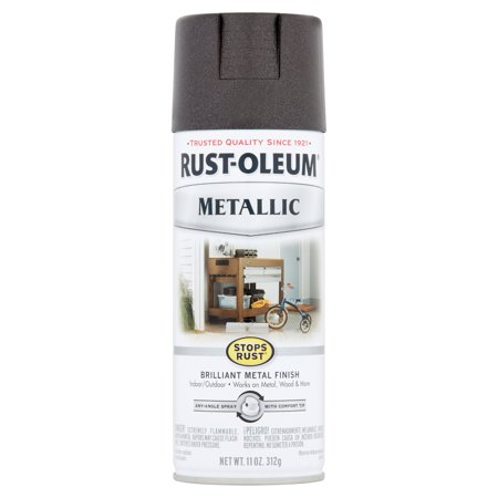 (3 Pack) Rust-Oleum Stops Rust Metallic Oil Rubbed Bronze Brilliant Metal Finish Spray Paint, 11 oz