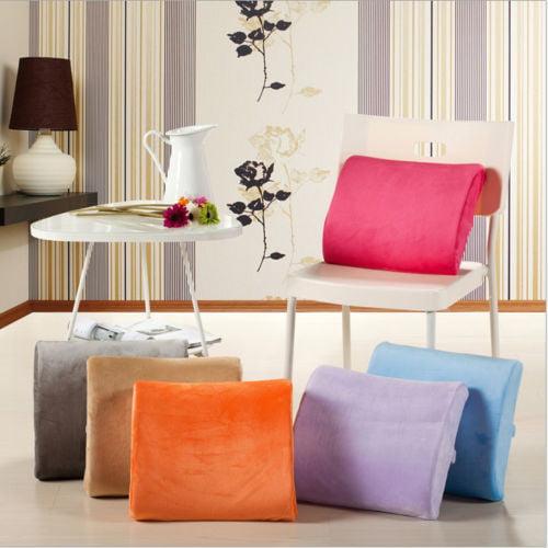 Memory Foam Lumbar Back Support Pillow Sciatica & Pain ...