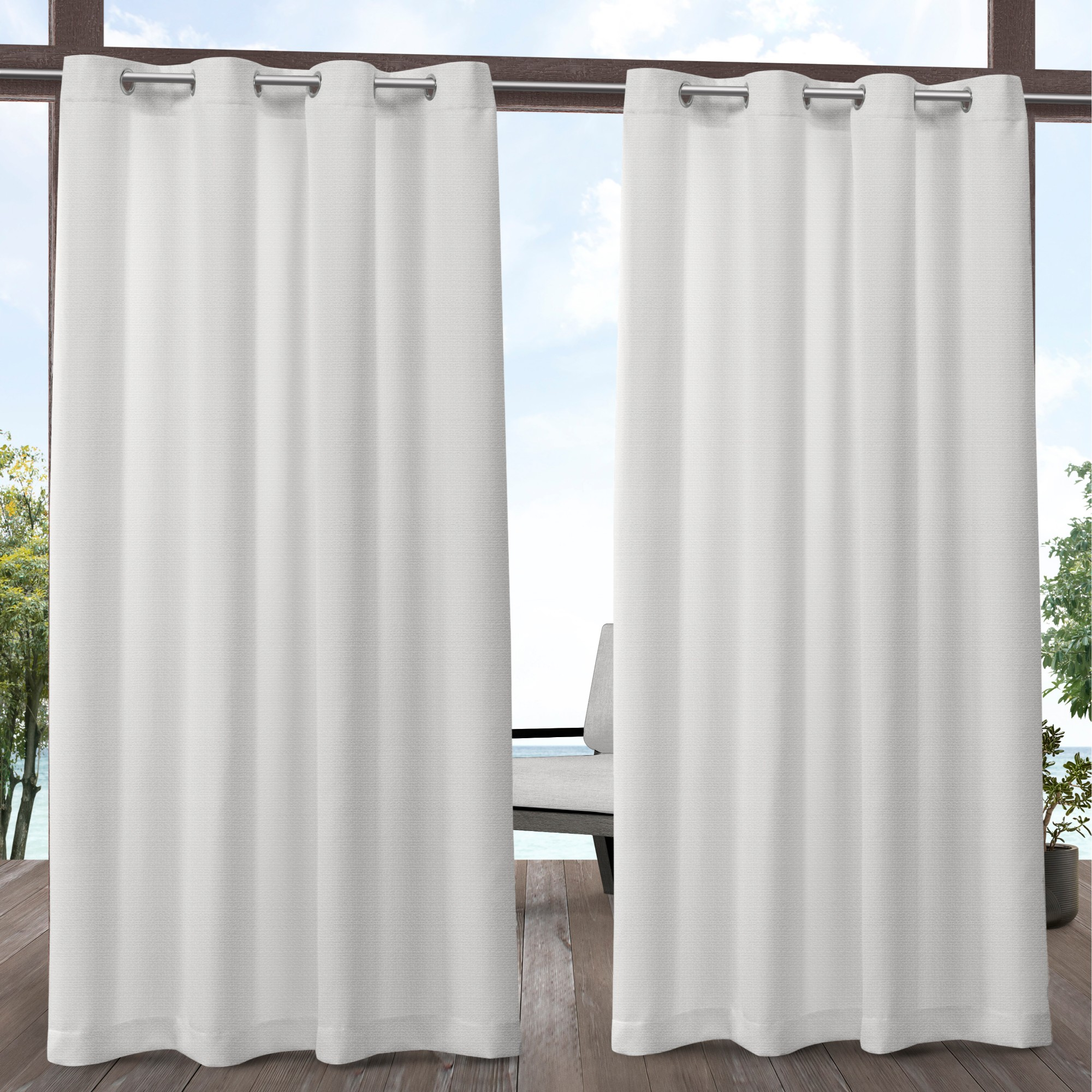Exclusive Home Curtains 2 Pack Aztec Indoor/Outdoor Grommet Top Curtain Panels