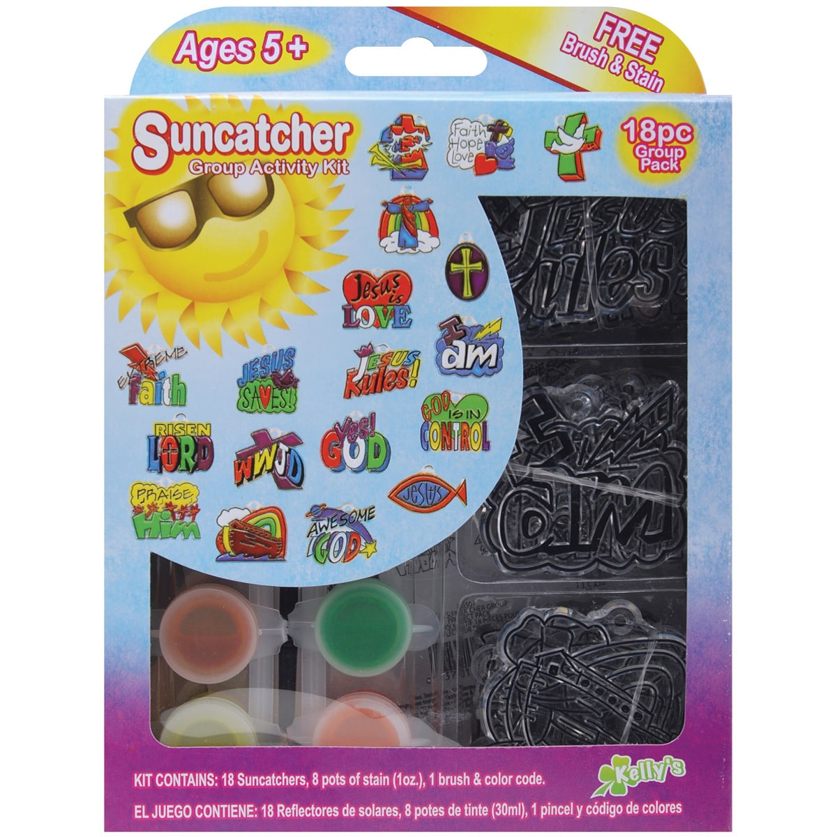 New Image Group Suncatcher Group Activity Kit-Religious 18/Pkg