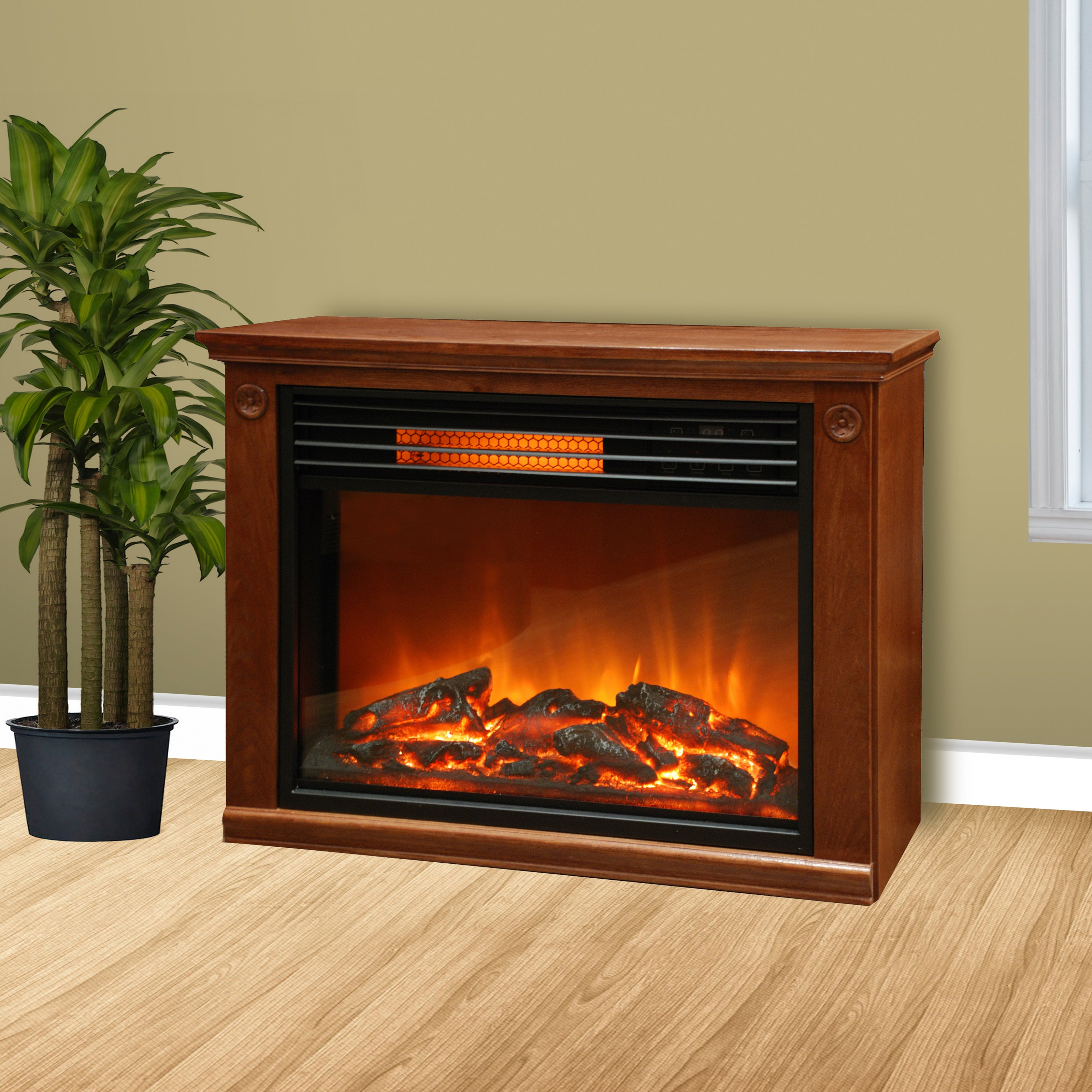 Buy Lifepro by Lifesmart LS2002FRP13 Infrared Fireplace - Brown at Walmart.com