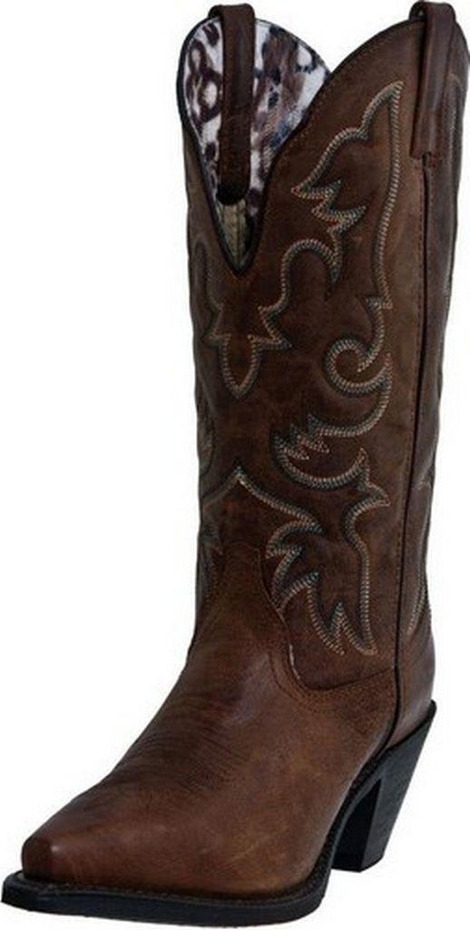 Laredo Fashion Boots Womens Access Stitched Cowboy Vintage Tan 51078 by Laredo