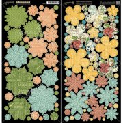 """Time To Flourish Cardstock Die-Cuts, 6"""" x 12"""", Sheets 2pk, Flowers"""