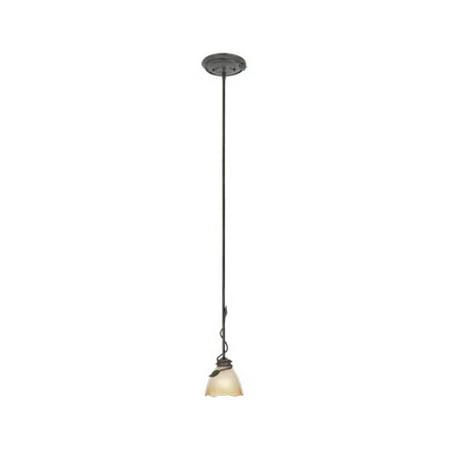 Old Bronze Single Light Down Lighting Mini Pendant Timberline Collection