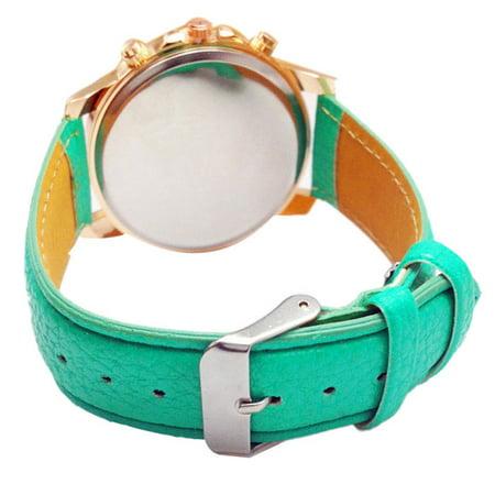 2015 Women Stylish Numerals Faux Leather Analog Quartz Wrist Watch (Wristwatch 2015)