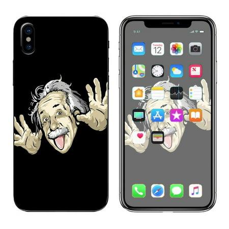 - Skins Decals For Apple Iphone X 10  / Funny Albert Einstein E=Mc2
