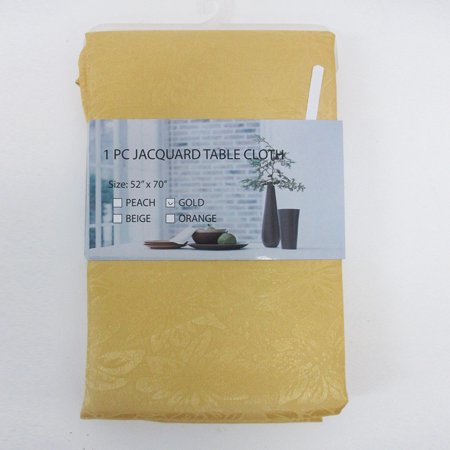 Jacquard Floral Table Cloth Linen 52X70 Rectangle Cover Elegant Tablecloth - Cloth Table Covers