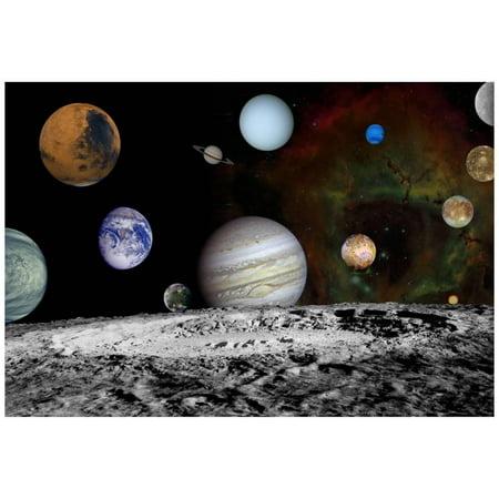 The New Solar System Planets Jupiter Moons Rosette Nebula Space Art P...