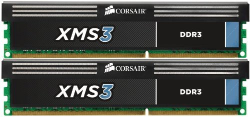 Corsair XMS3 16GB DDR3 SDRAM Memory Module - 16 GB (2 x 8 GB) - DDR3 SDRAM - 1600 MHz DDR3-1600/PC3-12800 - Non-ECC - Unbuffered - 240-pin DIMM - Retail
