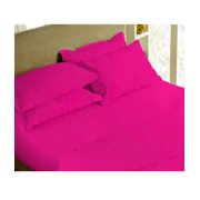 The Great American Store1800 Series Microfiber Solid 6PC Sheet Set Queen Hot Pink (1 Fitted sheet, 1 Flat sheet & 4 pillowcases) - Hypoallergenic, Wrinkle & Fade Resistant Bedding Set