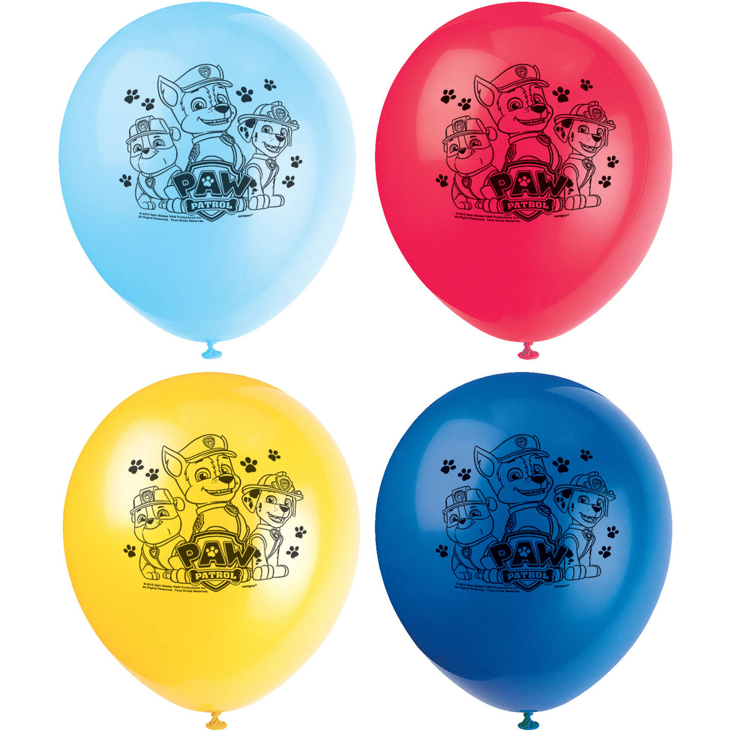 Latex PAW Patrol Balloons, 12 in, 8ct
