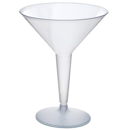 Efavormart 50 Pcs - Clear 8oz Disposable Plastic Martini Glass - Crystal Collection