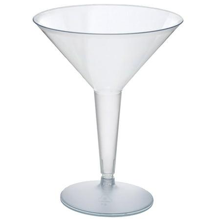 Efavormart 50 Pcs - Clear 8oz Disposable Plastic Martini Glass - Crystal - Martini Plastic Glasses Bulk
