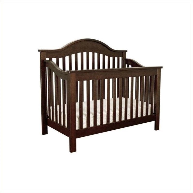 DaVinci Jayden 4-in-1 Convertible Crib in Ebony with Crib Mattress by DaVinci Baby