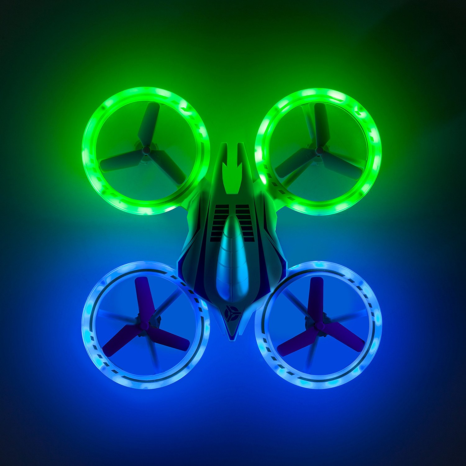 Halo Quadcopter Drone for Kids - Beginners Stunt Flier Altitude Hold Glow in the Dark LED 360 Flip Drone Helicopter