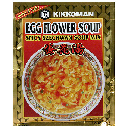 Kikkoman Egg Flower Spicy Szechwan Soup Mix, 1.22 oz, (Pack of 12)