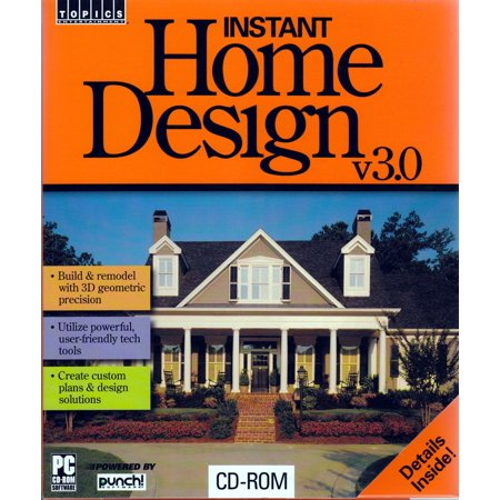 Instant Home Design v3.0 PC CD Software - Build and remodel with 3D geometric precision (Clothing Design Software For Mac)