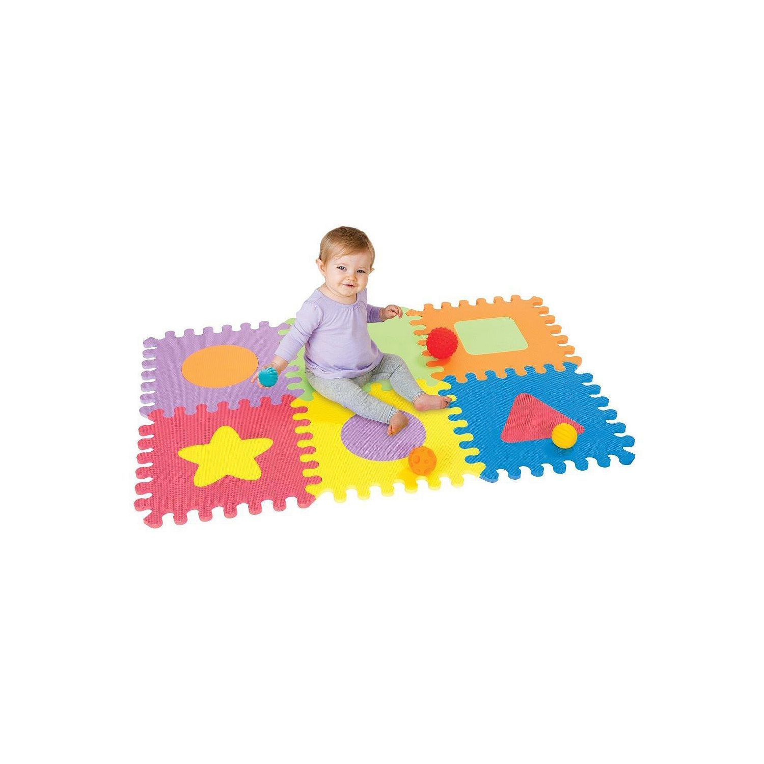 Product of Infantino Soft Foam Puzzle Mat- Pack of 5 Puzzles [Bulk Savings] by