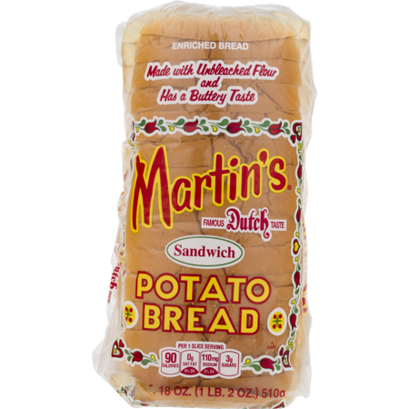 Martin's Sandwich Potato Bread- 16 slice 18 oz (4 Bags) - Halloween Food Bread
