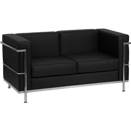 Flash Furniture Hercules Regal Series Contemporary Leather Love Seat with Encasing Frame