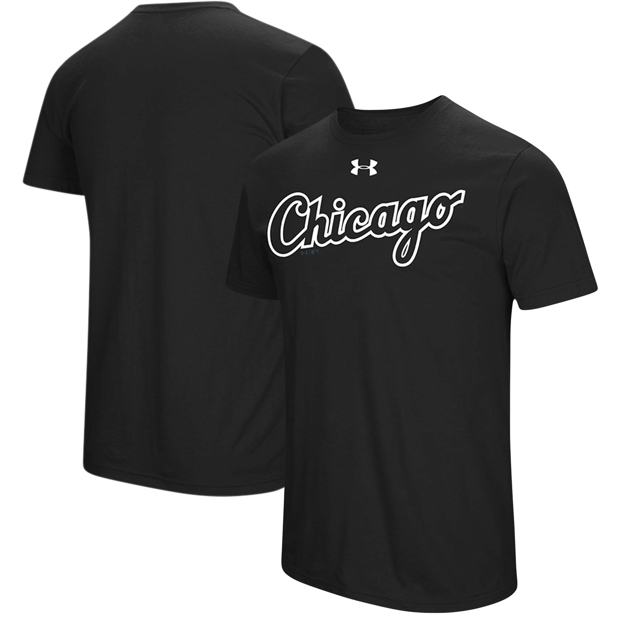 Chicago White Sox Under Armour Passion Road Team Font T-Shirt - Black