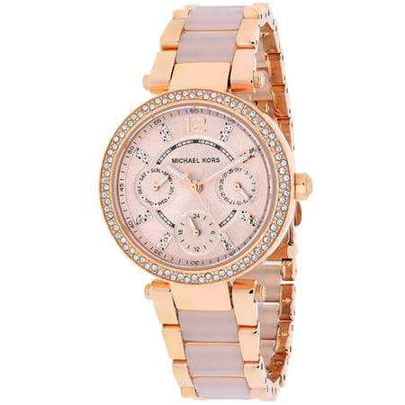 e85952a98da Michael Kors - Michael Kors Women s Parker Gold Tone Watch MK6110 -  Walmart.com