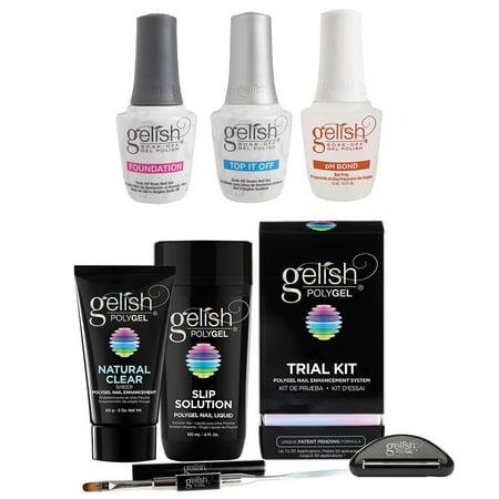 Gelish PolyGel Trial Kit &  Terrific Trio Gel Polish Essentials - Terrific Trio