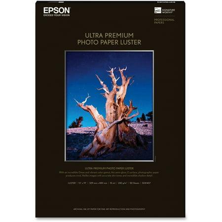 Epson, EPSS041407, Ultra Premium Luster Photo Paper, 50 / Pack