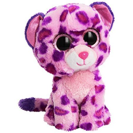 "TY Beanie Boos -Glamour the Pink Leopard (Glitter Eyes) Small 6"" Plush"