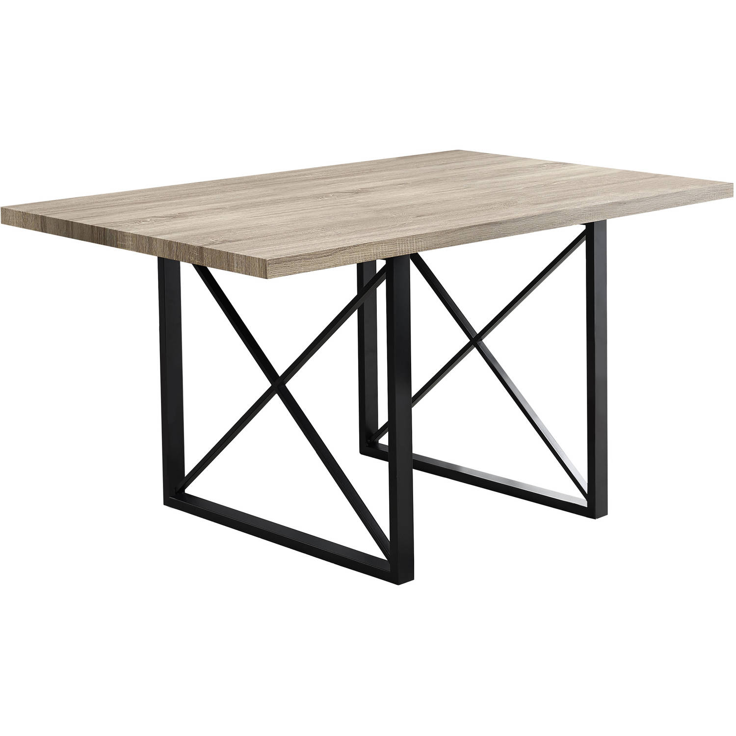 "Monarch Dining Table 36""X 60"" / Dark Taupe / Black Metal"