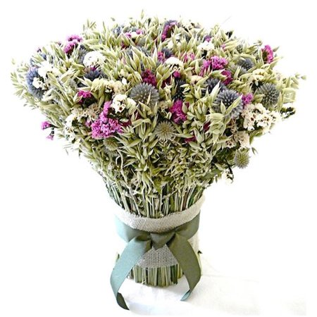 Dried Flowers and Wreaths LLC Avena and Echinops Bouquet Floral (Dried Bouquet)