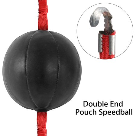 Double End Boxing Speed Ball MMA Boxing Training Gear Workout Punching Bag with Strap (Punching Gear)