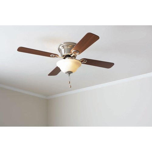 "Mainstays 42"" Ceiling Fan with Bowl Light Kit, Satin Nickel  17822"