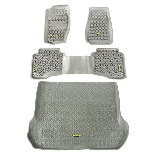 Outland Automotive Floor Liners, Kit, Gray; 05-10 Grand Cherokee Wk 391498833