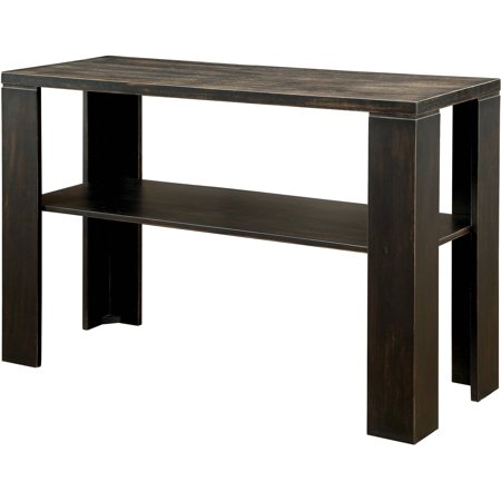 Furniture Of America Kyson Transitional Sofa Table  Antique Black