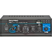 Pyle 80W Mini Stereo Power Amplifier with USB/Auxiliary Inputs
