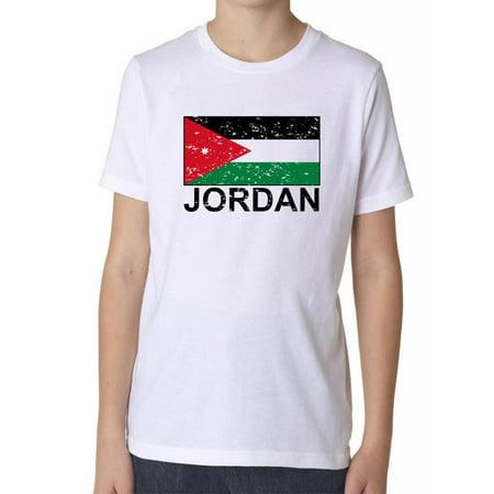 Jordan Flag - Special Vintage Edition Boy's Cotton Youth T-Shirt
