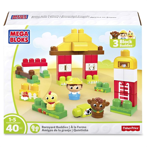Mega Bloks Barnyard Buddies Building Blocks Set