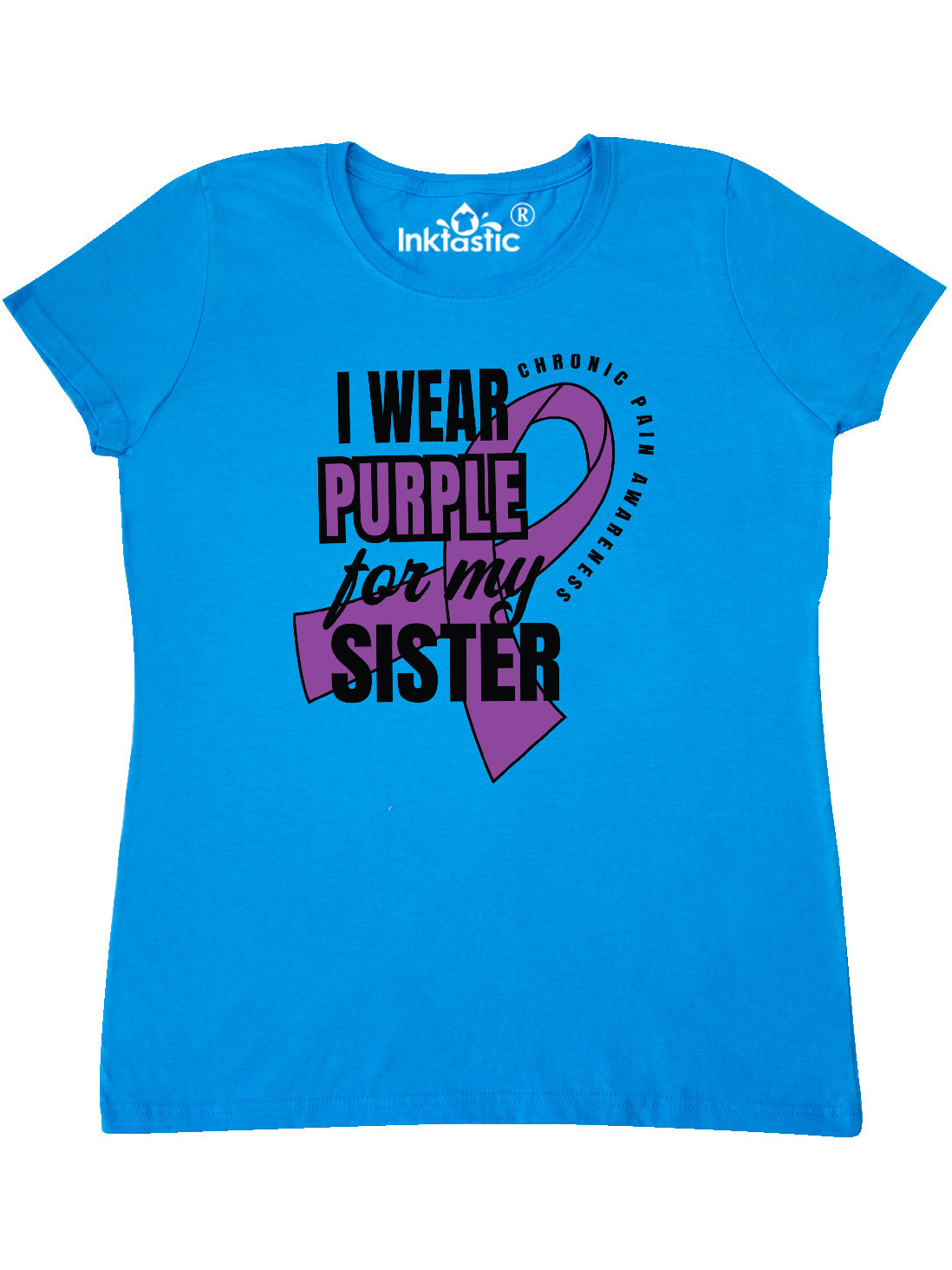 inktastic Chronic Pain I Wear Purple for My Sister Baby T-Shirt