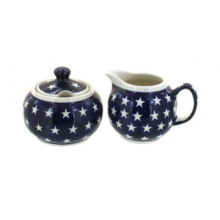 Royal Blue Creamer (Polish Pottery Stars Sugar and Creamer)